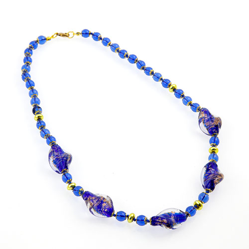 Necklace with Glass Beads Malta,Glass Jewellery Malta, Glass Jewellery, Mdina Glass