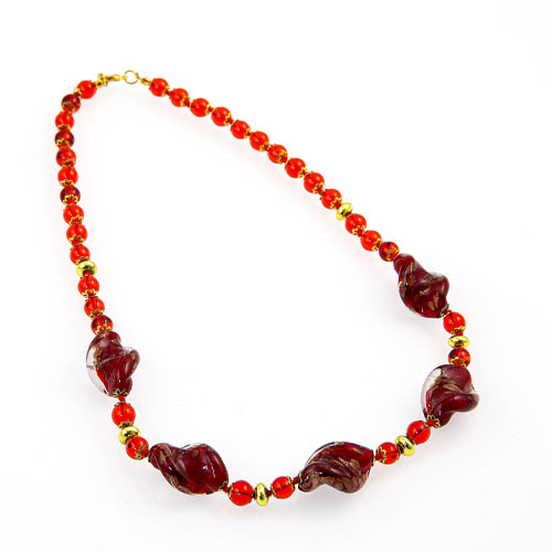Necklace with Glass Beads Malta,Glass Necklaces Malta, Glass Necklaces, Mdina Glass