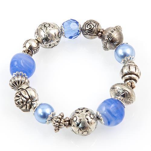 Glass & Metal Bead Bracelet Malta,Glass Bracelets Malta, Glass Bracelets, Mdina Glass