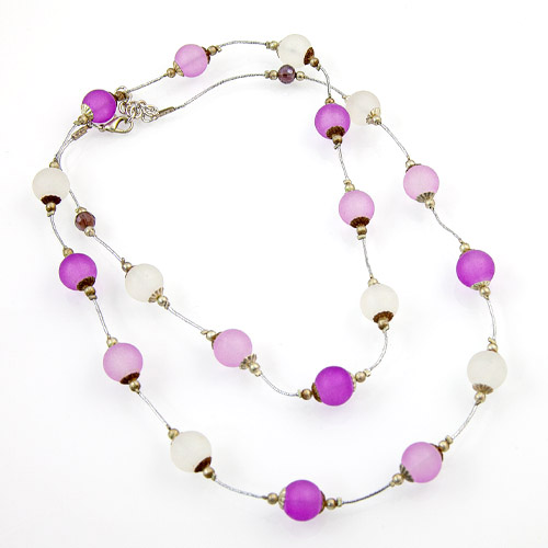 Frosted Glass Bead Necklace Malta,Glass Necklaces Malta, Glass Necklaces, Mdina Glass