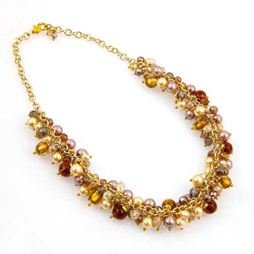 Multi Glass Bead Necklace Malta,Glass Necklaces Malta, Glass Necklaces, Mdina Glass