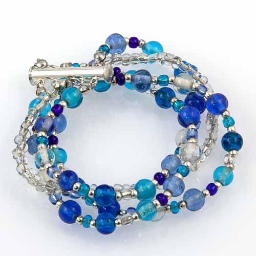 Multi Strand Glass Bead Bracelet Malta,Glass Bracelets Malta, Glass Bracelets, Mdina Glass
