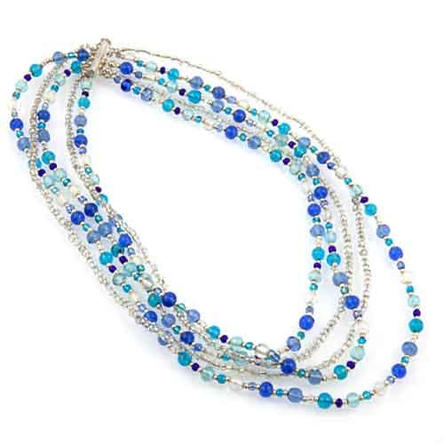 Multi Strand Glass Bead Necklace Malta,Glass Necklaces Malta, Glass Necklaces, Mdina Glass
