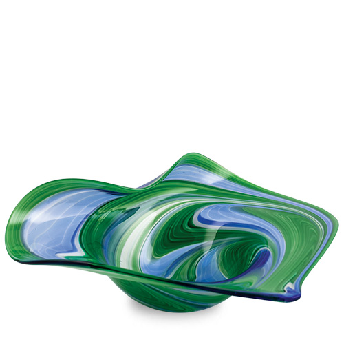 Kingfisher Medium Leaf Bowl Malta,Glass Decorative Bowls Malta, Glass Decorative Bowls, Mdina Glass