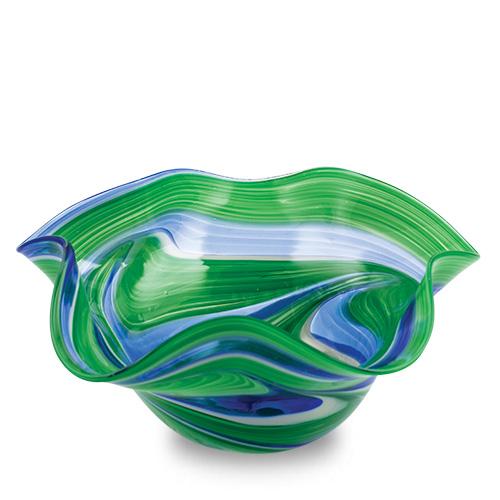 Kingfisher Medium Star Bowl Malta,Glass Decorative Bowls Malta, Glass Decorative Bowls, Mdina Glass