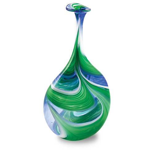 Kingfisher Medium Lollipop Bottle Vase Malta,Glass Vases Malta, Glass Vases, Mdina Glass