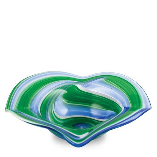 Kingfisher Miniature Flat Side Ashtray Malta,Glass Contemporary Range Malta, Glass Contemporary Range, Mdina Glass