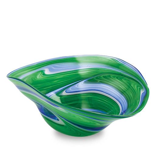Kingfisher Large Moon Bowl Malta,Glass Decorative Bowls Malta, Glass Decorative Bowls, Mdina Glass