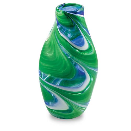 Kingfisher Large Tall Double Swirl Vase Malta,Glass Kingfisher Malta, Glass Kingfisher, Mdina Glass