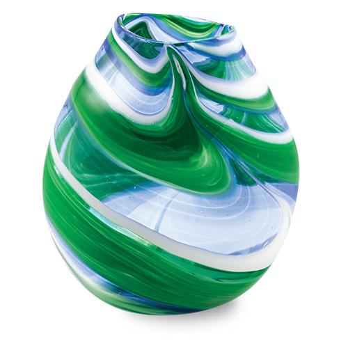 Kingfisher Medium Double Swirl Vase Malta,Glass Vases Malta, Glass Vases, Mdina Glass