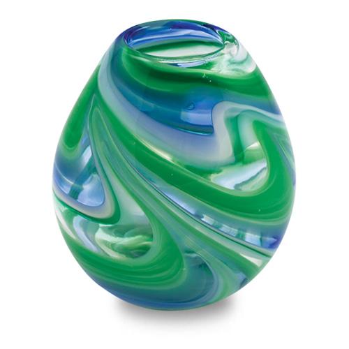 Kingfisher Miniature Dimi Vase Malta,Glass Vases Malta, Glass Vases, Mdina Glass