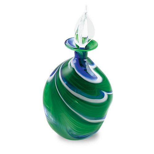 Kingfisher Miniature Double Swirl Perfume Malta,Glass Perfume Bottles Malta, Glass Perfume Bottles, Mdina Glass