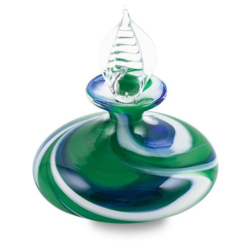 Kingfisher Miniature Flat MG Perfume Malta,Glass Perfume Bottles Malta, Glass Perfume Bottles, Mdina Glass