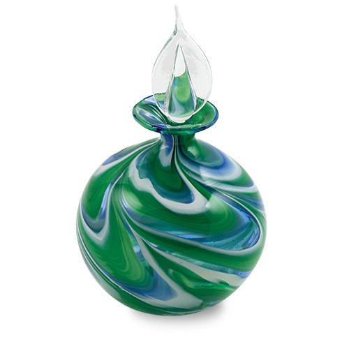 Kingfisher Miniature Round Perfume Malta,Glass Perfume Bottles Malta, Glass Perfume Bottles, Mdina Glass