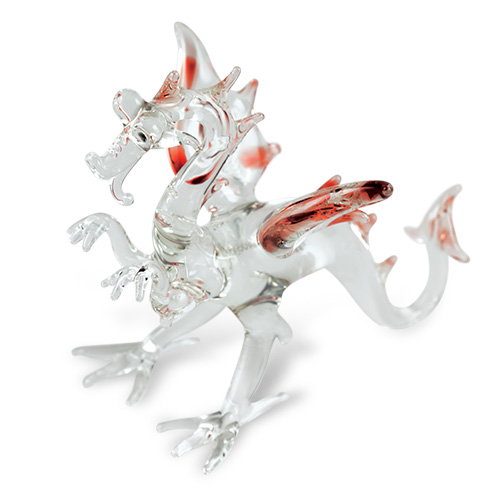 Small Dragon  Malta,Glass Figurines Malta, Glass Figurines, Mdina Glass