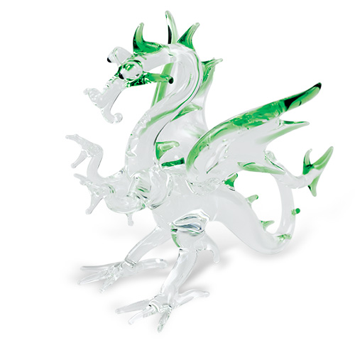 Medium Dragon  Malta,Glass Figurines Malta, Glass Figurines, Mdina Glass
