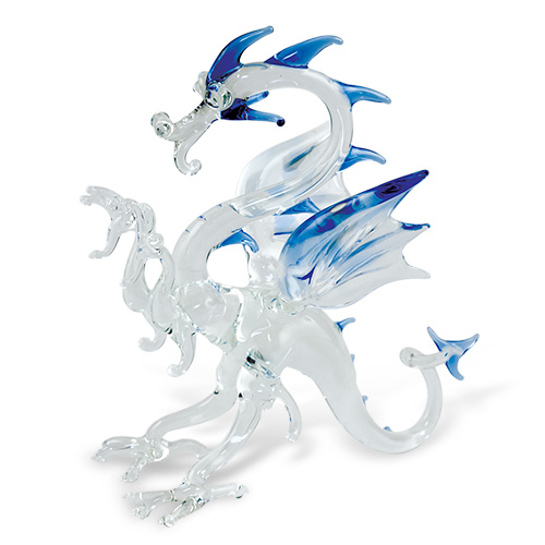 Large Dragon  Malta,Glass Figurines Malta, Glass Figurines, Mdina Glass