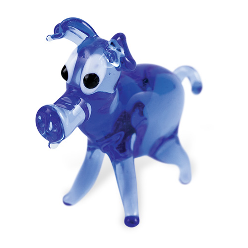 Pig (standing) Malta,Glass Figurines Malta, Glass Figurines, Mdina Glass