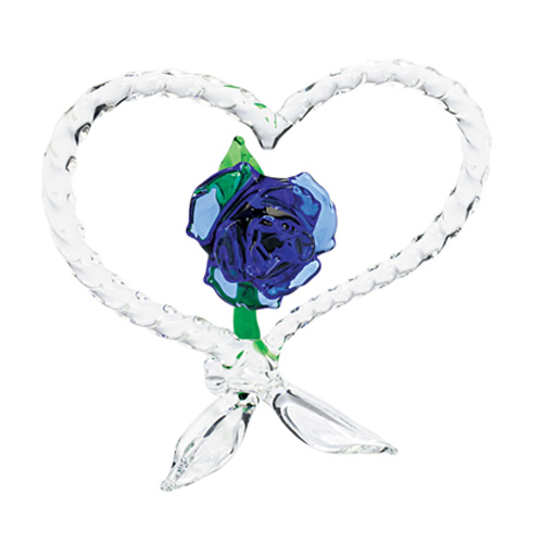 Malta,  Malta, Heart with Rose  Malta, Valentine's Malta, Mdina Glass Malta
