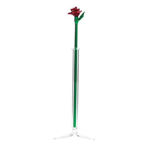 Medium Vase with Rose  Malta,Glass Objects Malta, Glass Objects, Mdina Glass