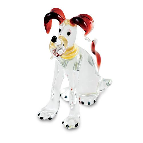 Large Dog (sitting) Malta,Glass Figurines Malta, Glass Figurines, Mdina Glass