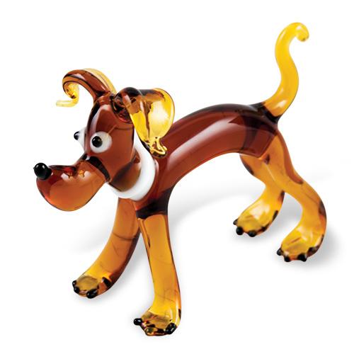 Dog (standing) Malta,Glass Figurines Malta, Glass Figurines, Mdina Glass
