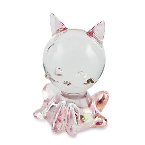 Solid Cat (sitting) Malta,Glass Figurines Malta, Glass Figurines, Mdina Glass
