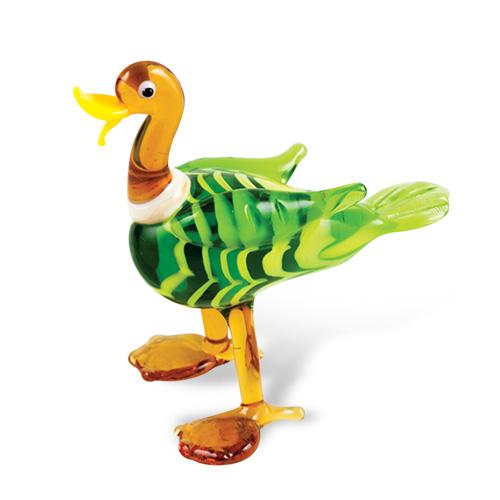 Duck (standing) Malta,Glass Figurines Malta, Glass Figurines, Mdina Glass