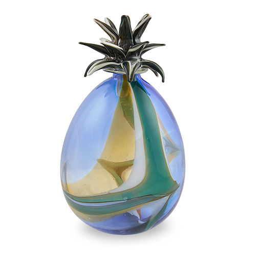 Large Legacy Stoppered Pineapple Vase Malta,Glass Legacy Malta, Glass Legacy, Mdina Glass