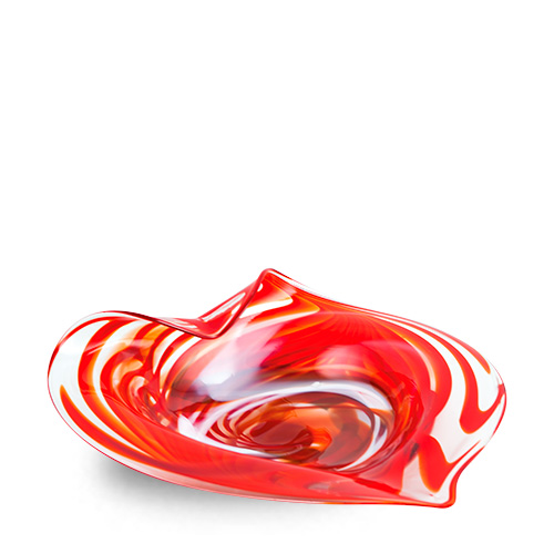 Marte Medium Leaf Bowl Malta,Glass Marte Malta, Glass Marte, Mdina Glass