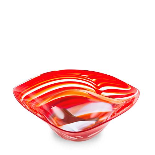 Marte Large Tri Bowl Malta,Glass Marte Malta, Glass Marte, Mdina Glass