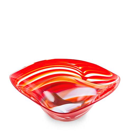 Marte Medium Tri Bowl Malta,Glass Marte Malta, Glass Marte, Mdina Glass