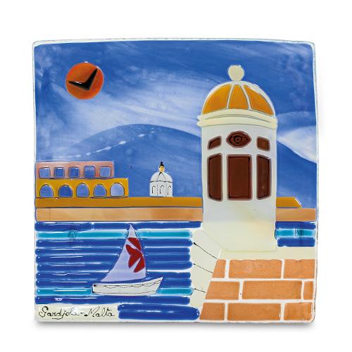 Gardjola Scene (22cm) Malta,Glass Pictures & Scenes Malta, Glass Pictures & Scenes, Mdina Glass