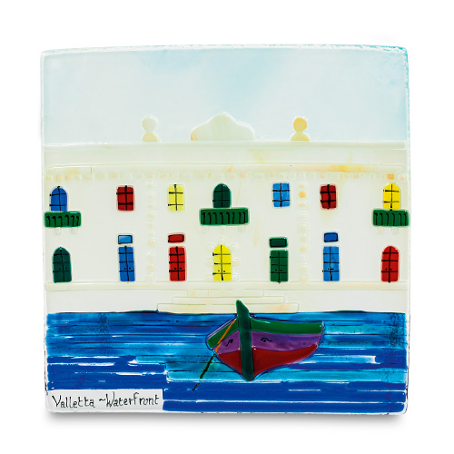 Waterfront Scene (22cm) Malta,Glass Pictures & Scenes Malta, Glass Pictures & Scenes, Mdina Glass