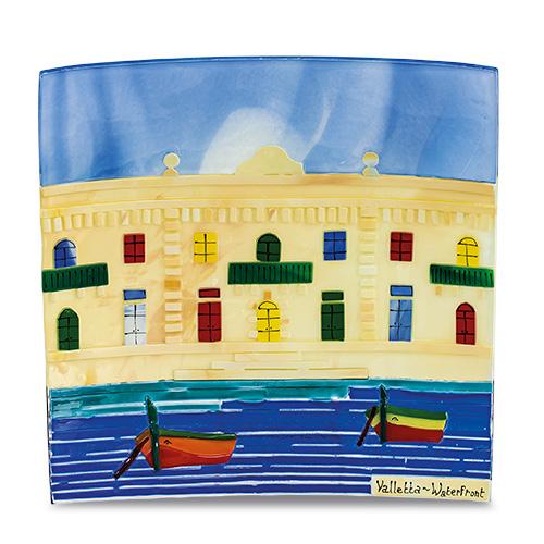 Waterfront Scene (28cm) Malta,Glass Pictures & Scenes Malta, Glass Pictures & Scenes, Mdina Glass