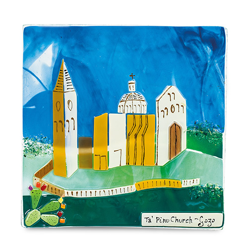 Ta' Pinu Scene (17cm) Malta,Glass Pictures & Scenes Malta, Glass Pictures & Scenes, Mdina Glass