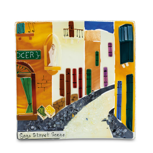 Gozo Street (17cm) Malta,Glass Pictures & Scenes Malta, Glass Pictures & Scenes, Mdina Glass