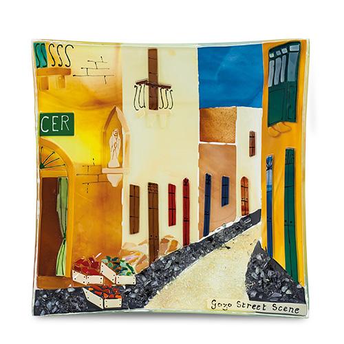 Gozo Street (22cm) Malta,Glass Gozo Scenes Malta, Glass Gozo Scenes, Mdina Glass