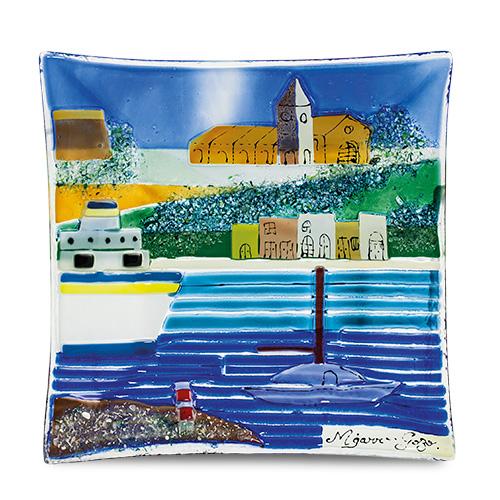 Malta,  Malta,Glass Pictures & Scenes Malta,Glass Pictures & Scenes, Mgarr Scene (22cm) Malta, Mdina Glass Malta