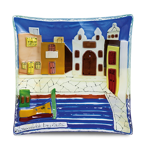 Marsaxlokk Scene (17cm) Malta,Glass Pictures & Scenes Malta, Glass Pictures & Scenes, Mdina Glass