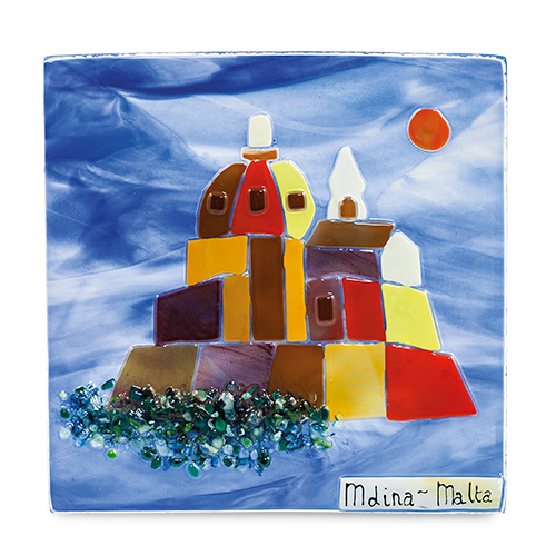 Modern Mdina Scene (17cm) Malta,Glass Pictures & Scenes Malta, Glass Pictures & Scenes, Mdina Glass