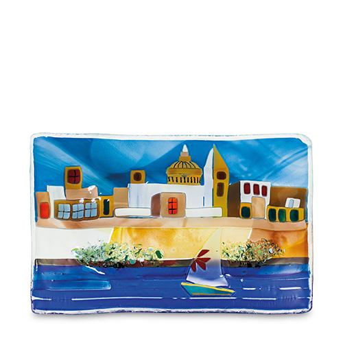 Malta,  Malta,Glass Pictures & Scenes Malta,Glass Pictures & Scenes, Valletta Scene (21cm x 15cm) Malta, Mdina Glass Malta