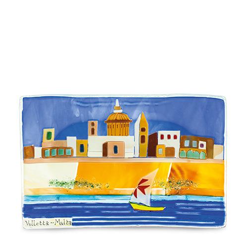 Valletta Scene (27cm x 18cm) Malta,Glass Pictures & Scenes Malta, Glass Pictures & Scenes, Mdina Glass