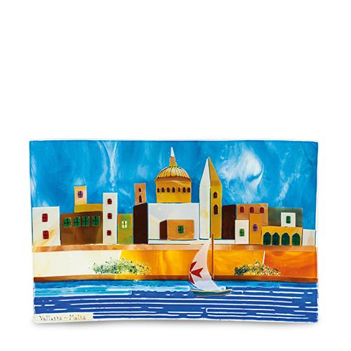Valletta Scene (43cm x 28cm) Malta,Glass Pictures & Scenes Malta, Glass Pictures & Scenes, Mdina Glass