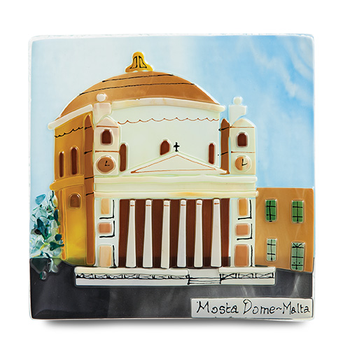 Mosta Dome (17cm) Malta,Glass Pictures & Scenes Malta, Glass Pictures & Scenes, Mdina Glass
