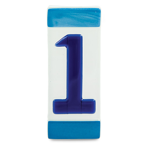 Blue House Number Malta,Glass Individual House Numbers Malta, Glass Individual House Numbers, Mdina Glass