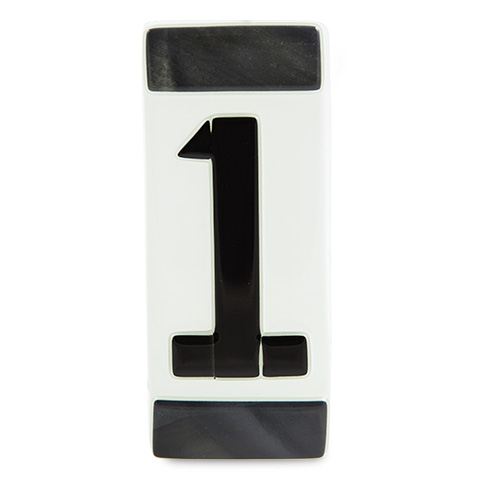 Black House Number Malta,Glass Individual House Numbers Malta, Glass Individual House Numbers, Mdina Glass