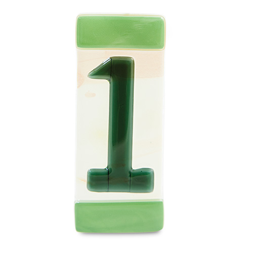 Green House Number Malta,Glass Individual House Numbers Malta, Glass Individual House Numbers, Mdina Glass