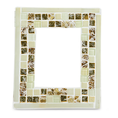 Cream and Gold Greek Frame (15cm x 13cm) Malta,Glass Picture Frames Malta, Glass Picture Frames, Mdina Glass