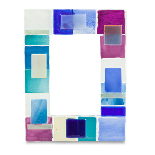 Pink & Blue Textured Frame Malta,Glass Picture Frames Malta, Glass Picture Frames, Mdina Glass